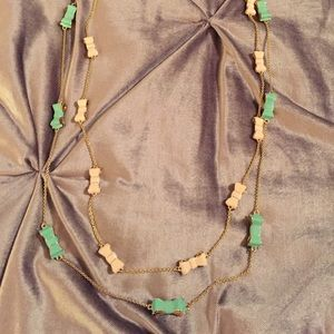 2 Kate Spade Bow Necklaces: light pink & sea green